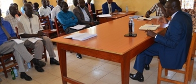 Chief Administrative Officer, Michael Wanje chairing a DTPC meeting at Planning Unit